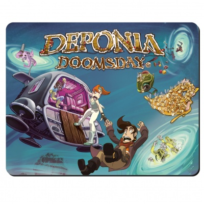 Motiv: Mousepad Textil - Deponia Doomsday - Artwork