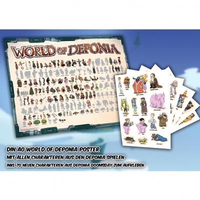 Motiv: Poster - Din A0 World of Deponia inkl. Sticker