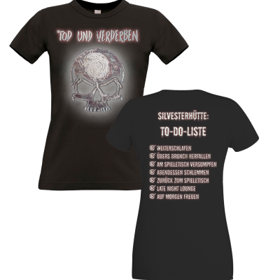 Motiv: T-Shirt Damen Premium FAIR WEAR - To-do-Liste - Mehrfarbig