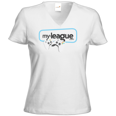 Motiv: T-Shirt Damen V-Neck Classic - My League Logo