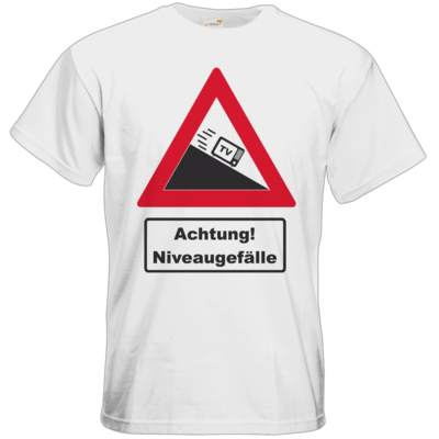 Motiv: T-Shirt Premium FAIR WEAR - Achtung Niveaugefaelle