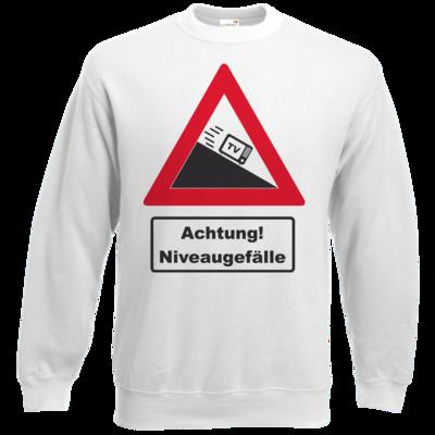 Motiv: Sweatshirt Set In - Achtung Niveaugefaelle