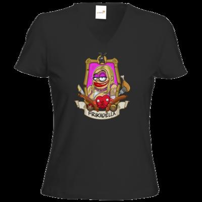 Motiv: T-Shirt Damen V-Neck Classic - Frikadella