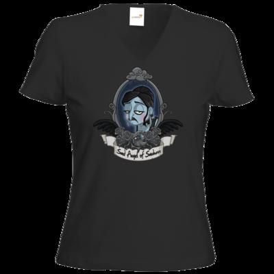 Motiv: T-Shirt Damen V-Neck Classic - Traenenmond
