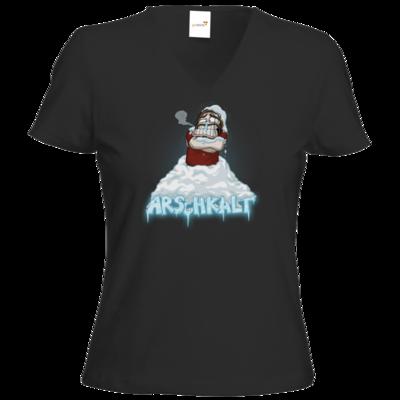 Motiv: T-Shirt Damen V-Neck Classic - Arschkalt