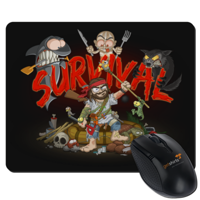 Motiv: Mousepad Textil - Survival