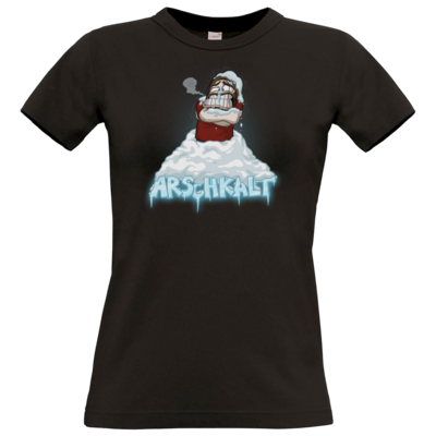 Motiv: Ladyshirt Premium FAIR WEAR - Arschkalt