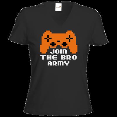 Motiv: T-Shirt Damen V-Neck Classic - Join the Bro Army