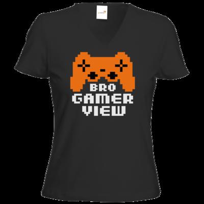Motiv: T-Shirt Damen V-Neck Classic - Logo BGV