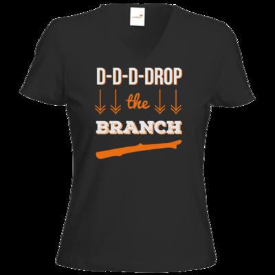 Motiv: T-Shirt Damen V-Neck Classic - Drop the Branch