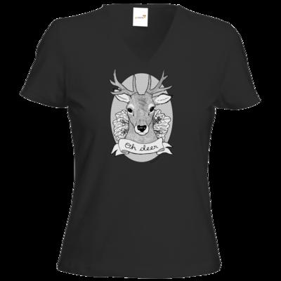 Motiv: T-Shirt Damen V-Neck Classic - Oh Deer