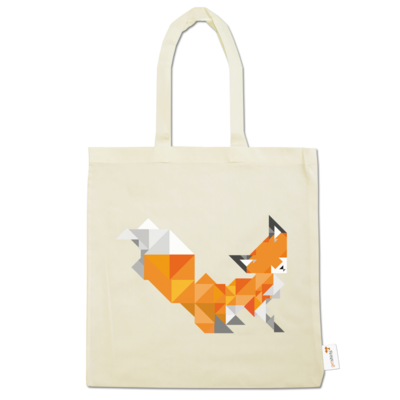 Motiv: Baumwolltasche - Foxy Triangle