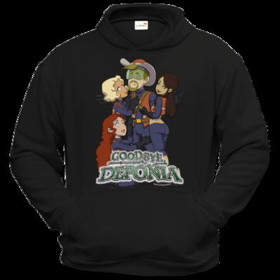 Motiv: Hoodie Classic - Deponia - Cowboy Dodo and girls