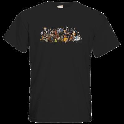 Motiv: T-Shirt Premium FAIR WEAR - Daedalic Allstars - Collage