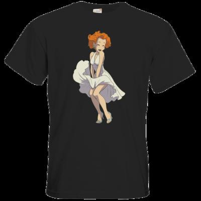 Motiv: T-Shirt Premium FAIR WEAR - Deponia - Marilyn Monroe Goal
