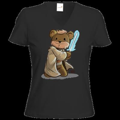 Motiv: T-Shirt Damen V-Neck Classic - Annas Quest - Ben Kenobi
