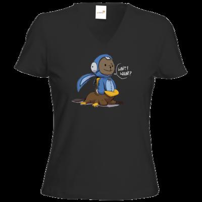 Motiv: T-Shirt Damen V-Neck Classic - Annas Quest - Ben-ception