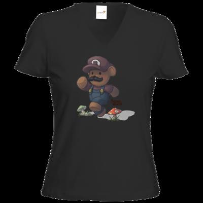 Motiv: T-Shirt Damen V-Neck Classic - Annas Quest - Super Klempner