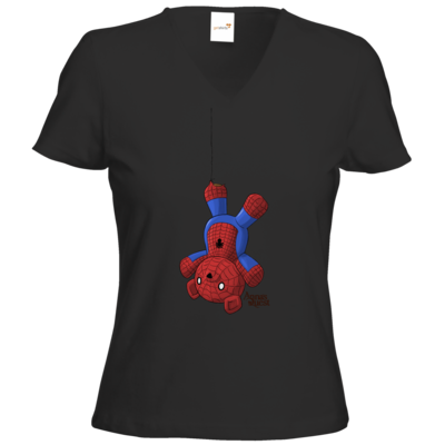 Motiv: T-Shirt Damen V-Neck Classic - Annas Quest - Amazing Spiderben