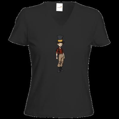 Motiv: T-Shirt Damen V-Neck Classic - The Night of the Rabbit- Jerry