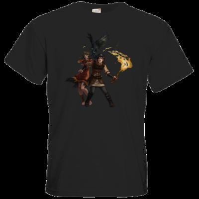 Motiv: T-Shirt Premium FAIR WEAR - Satinavs Ketten
