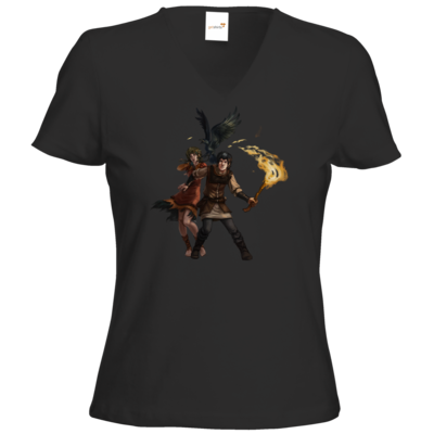 Motiv: T-Shirt Damen V-Neck Classic - Satinavs Ketten
