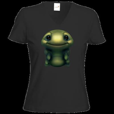 Motiv: T-Shirt Damen V-Neck Classic - Silence - Spot