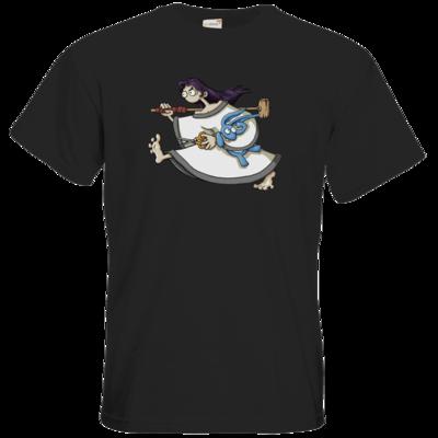 Motiv: T-Shirt Premium FAIR WEAR - Edna bricht aus - rennt weg