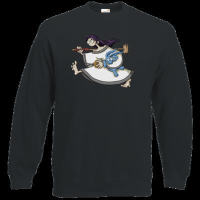 Motiv: Sweatshirt Classic - Edna bricht aus - rennt weg