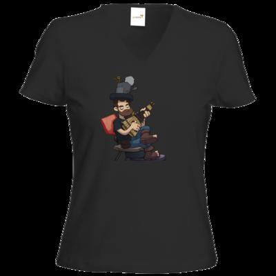 Motiv: T-Shirt Damen V-Neck Classic - Deponia - Poki