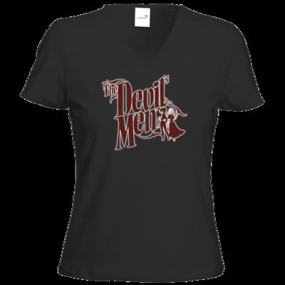 Motiv: T-Shirt Damen V-Neck Classic - The Devils Men - red