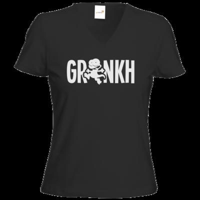 Motiv: T-Shirt Damen V-Neck Classic - Lurch sw