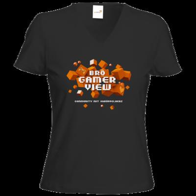 Motiv: T-Shirt Damen V-Neck Classic - Cubes Gamescom
