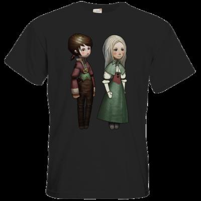 Motiv: T-Shirt Premium FAIR WEAR - The Devils Men - Emily und Adelaide