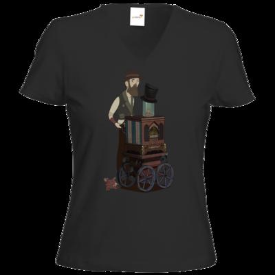 Motiv: T-Shirt Damen V-Neck Classic - The Devils Men - Orgelspieler