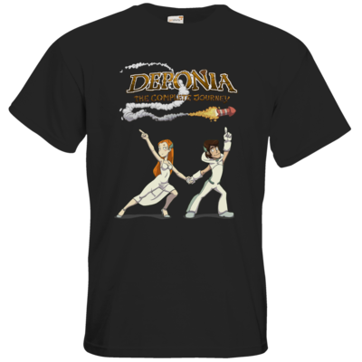 Motiv: T-Shirt Premium FAIR WEAR - Deponia - Disco Pose