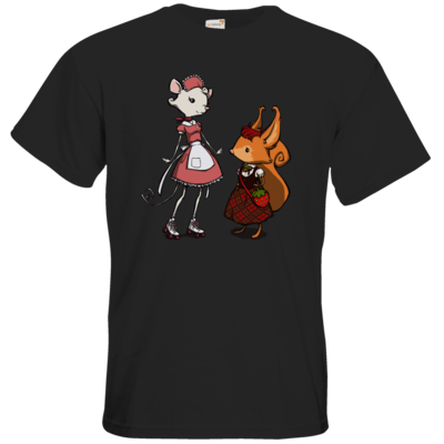 Motiv: T-Shirt Premium FAIR WEAR - The Night of the Rabbit - Anja and Edith