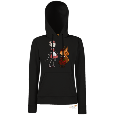 Motiv: Lady Hoodie Classic - The Night of the Rabbit - Anja and Edith
