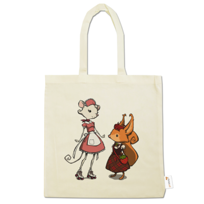 Motiv: Baumwolltasche - The Night of the Rabbit - Anja and Edith