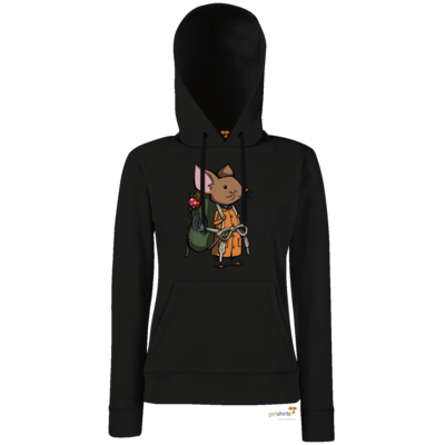 Motiv: Lady Hoodie Classic - The Night of the Rabbit - Backpackmouse