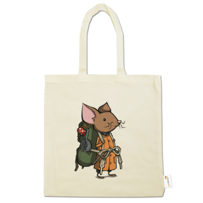 Motiv: Baumwolltasche - The Night of the Rabbit - Backpackmouse