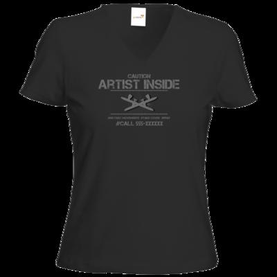 Motiv: T-Shirt Damen V-Neck Classic - artistinside
