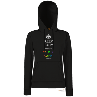 Motiv: Lady Hoodie Classic - Keep Calm Comic Sans