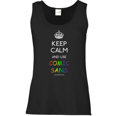 Motiv: Tank Top Damen Classic - Keep Calm Comic Sans