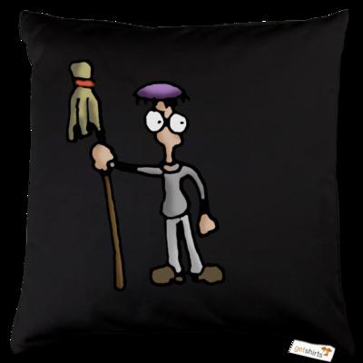 Motiv: Kissen Baumwolle - Edna bricht aus - Droggelbecher