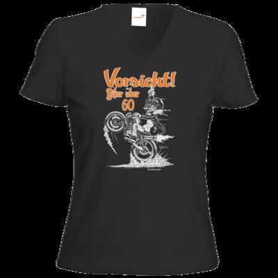 Motiv: T-Shirt Damen V-Neck Classic - Biker - ueber 60