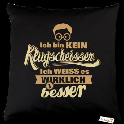 Motiv: Kissen Baumwolle - Fun Klugscheisser 1