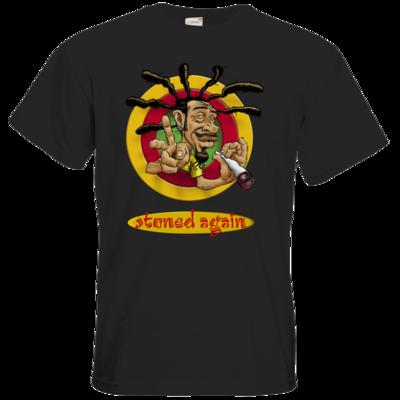 Motiv: T-Shirt Premium FAIR WEAR - Kiffen - stoned again