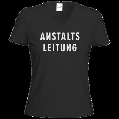 Motiv: T-Shirt Damen V-Neck Classic - Fun - Anstaltsleitung