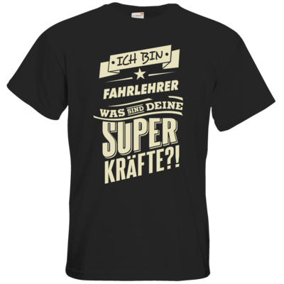 Motiv: T-Shirt Premium FAIR WEAR - Superkraefte Fahrlehrer